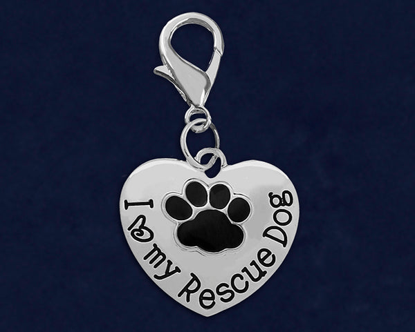 25 I Love My Rescue Dog Hanging Charms (25 Charms)