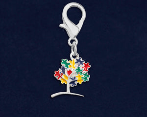 Autism Awareness Tree Puzzle Piece Hanging Charms - Fundraising For A Cause