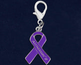 25 Alzheimer's Purple Ribbon Hanging Charms (25 Charms)