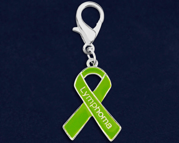 25 Lymphoma Lime Green Ribbon Hanging Charms (25 Charms)