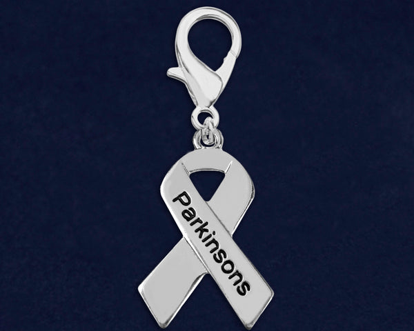 25 Parkinson's Awareness Ribbon Hanging Charms (25 Charms)