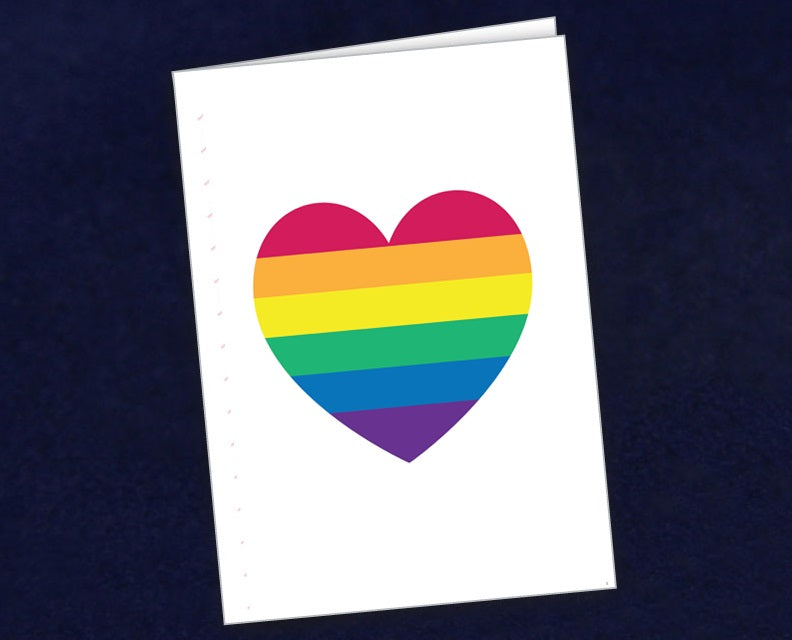 12 Rainbow Heart Note Cards (12 Cards)