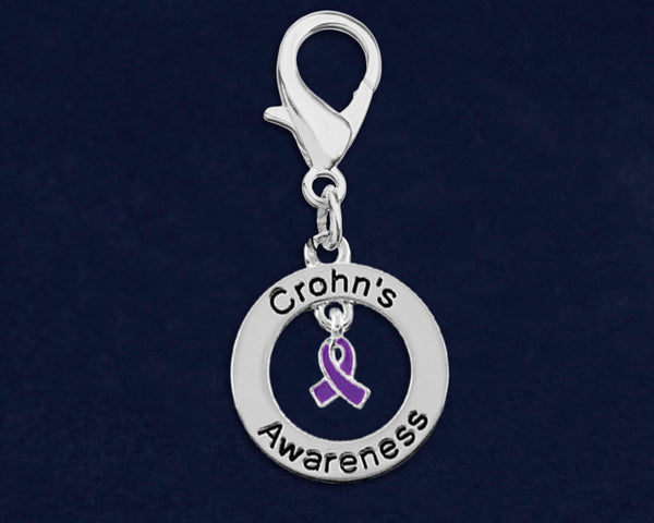 25 Crohn's Disease Awareness Hanging Charms (25 Charms)