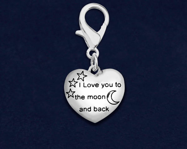25 I Love You To The Moon And Back Hanging Charms (25 Charms) - fundraisingforacausecom