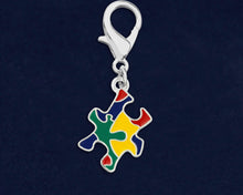 Load image into Gallery viewer, Autism Colored Puzzle Piece Hanging Charms - Fundraising For A Cause