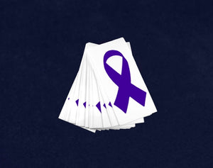 Small Violet Ribbon Decals - Fundraising For A Cause
