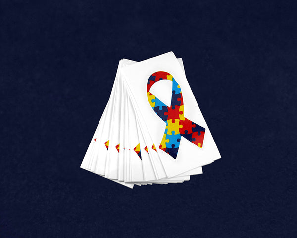 25 Small Autism Ribbon Decals (25 Autism Decals)