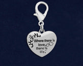 25 Where There Is Love Awareness Hanging Charms (25 Charms)