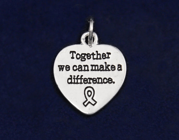 25 Difference Ribbon Awareness Charms (25 Charms)