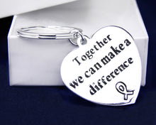 Load image into Gallery viewer, Silver Cancer Awareness Keychains - Fundraising For A Cause
