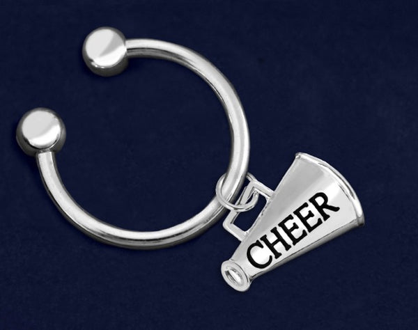 12 Cheerleading Megaphone Key Chains (12 Key Chains)