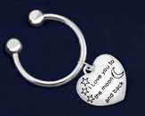 24 I Love You To The Moon And Back Keychains (24 Keychains)