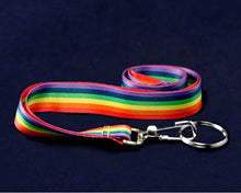 Load image into Gallery viewer, Rainbow Striped Lanyards