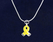 Load image into Gallery viewer, Small Yellow Ribbon Necklaces - Fundraising For A Cause