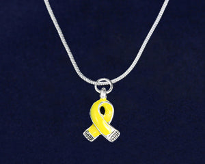 Small Yellow Ribbon Necklaces - Fundraising For A Cause
