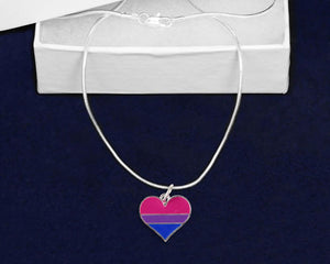 Bisexual Heart Charm Necklaces - Fundraising For A Cause