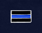 25 Law Enforcement Rectangle Blue Line Pins (25 Pins)