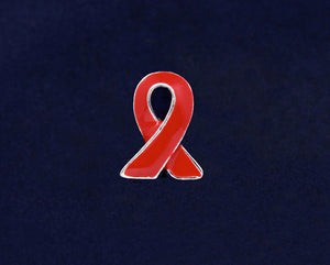 Lapel Red Ribbon Pins - Fundraising For A Cause