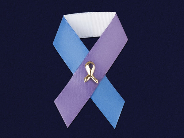 100 Satin Rheumatoid Arthritis Awareness Ribbon Pins (100 Pins)