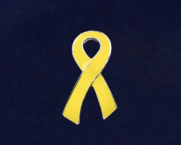 50 Spina Bifida Awareness Ribbon Pins (50 Pins)