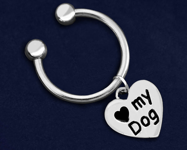 12 Love My Dog Key Chains (12 Key Chains)