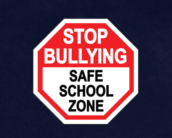 25 Stop Bullying Safe School Paper Signs (25 Signs)