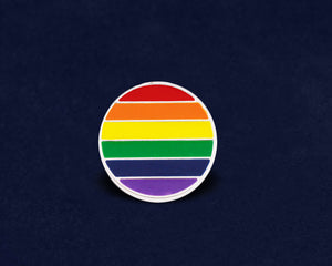 Circle Rainbow Gay Pride Pin