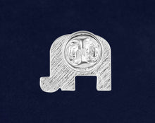 Load image into Gallery viewer, Republican Elephant Rainbow Pride Pins