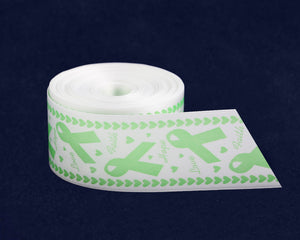 Satin Light Green Awareness Ribbon By The Yard (10 Yard Spool)