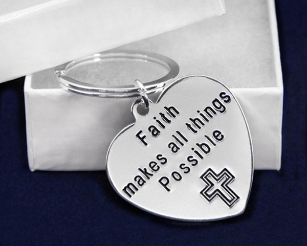 Faith Makes All Things Possible Key Chains - Fundraising For A Cause