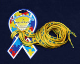 50 Pairs Autism Awareness Shoe Laces (25 Autism Cards - 2 Pairs on each Card)