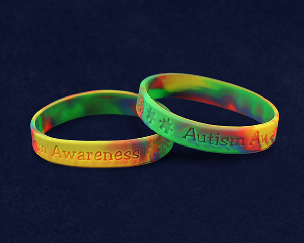 50 Child Autism Awareness Silicone Bracelets (50 Autism Bracelets)