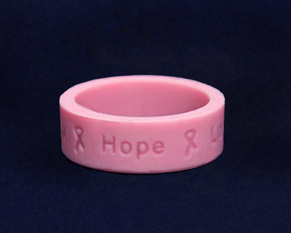 50 Pink Breast Cancer Awareness Silicone Rings (50 Rings)