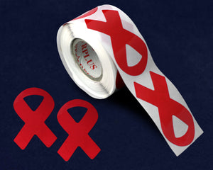 250 Large Drug Prevention Red Ribbon Stickers (250 Stickers)