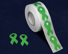 Load image into Gallery viewer, 500 Small Green Ribbon Stickers (500 Stickers)