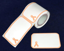 Load image into Gallery viewer, 100 Name Badge Peach Ribbon Stickers (100 Stickers)