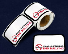 Load image into Gallery viewer, 100 Name Badge Speak Out End Bullying Stickers (100 Stickers)