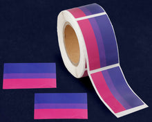 Load image into Gallery viewer, Rectangle Bisexual Pride Stickers - Fundraising For A Cause