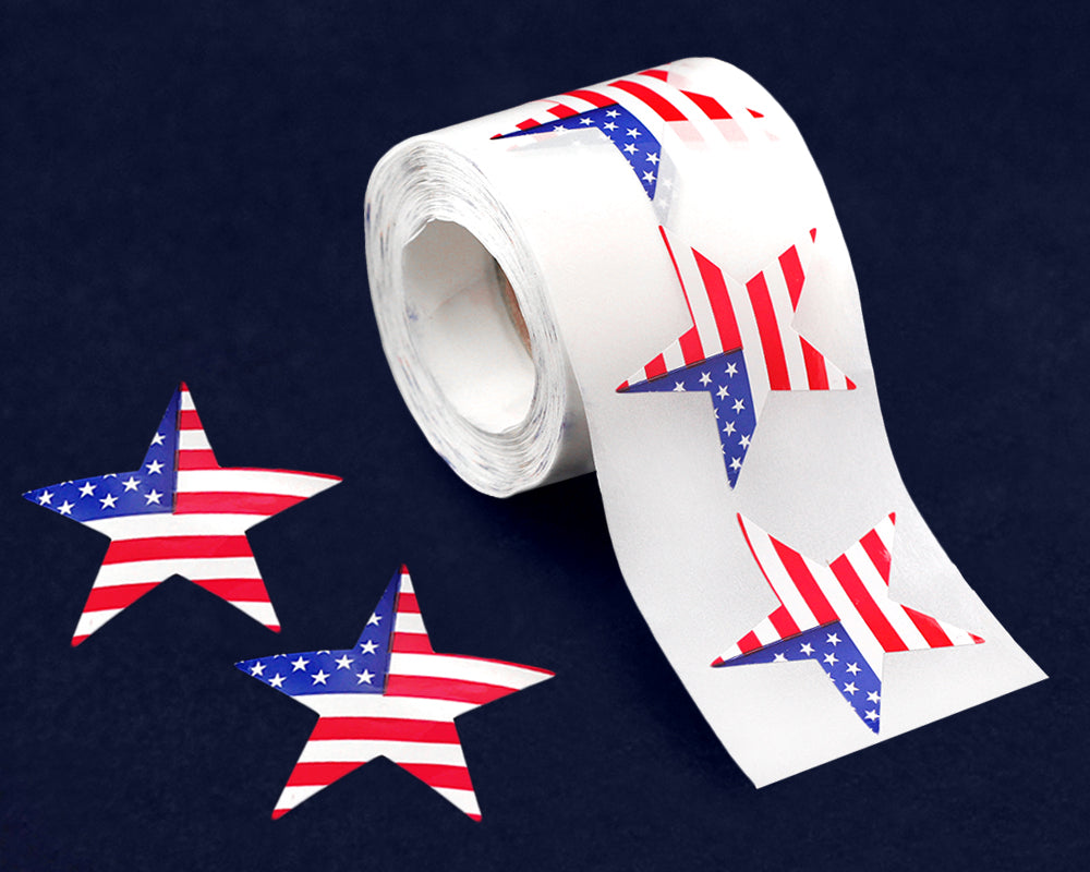 American Flag Star Stickers