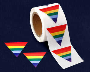 250 Triangle Rainbow Stickers (250 Stickers)