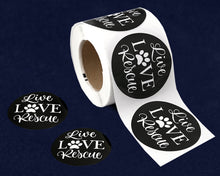 Load image into Gallery viewer, 250 Live Love Rescue Stickers (250 Stickers)