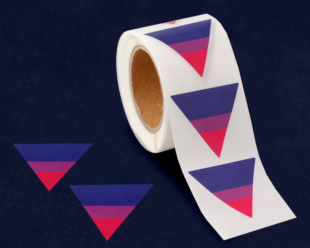 250 Triangle Bisexual Pride Stickers (250 Stickers)