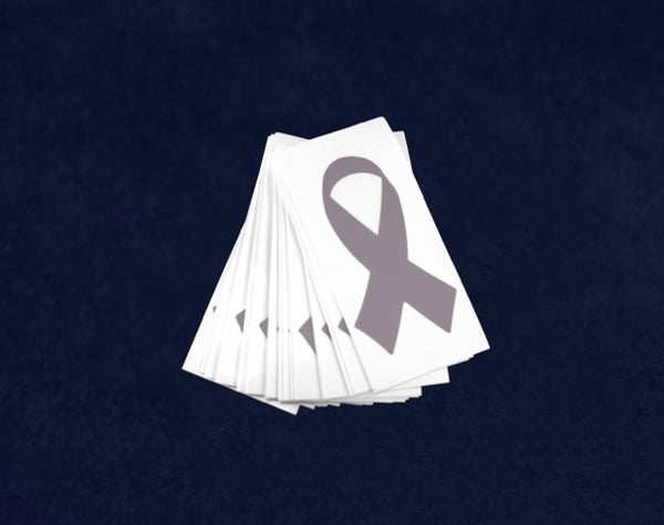 25 Small Gray Ribbon Decals (25 Decals)