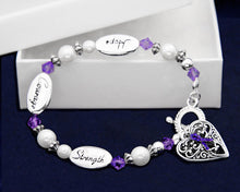 Load image into Gallery viewer, Hope Strength Alzheimer's Bracelets - Fundraising For A Cause