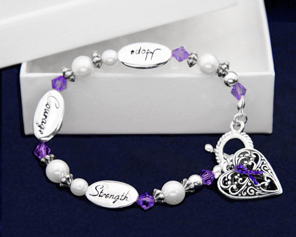 Hope Strength Alzheimer's Bracelets - Fundraising For A Cause