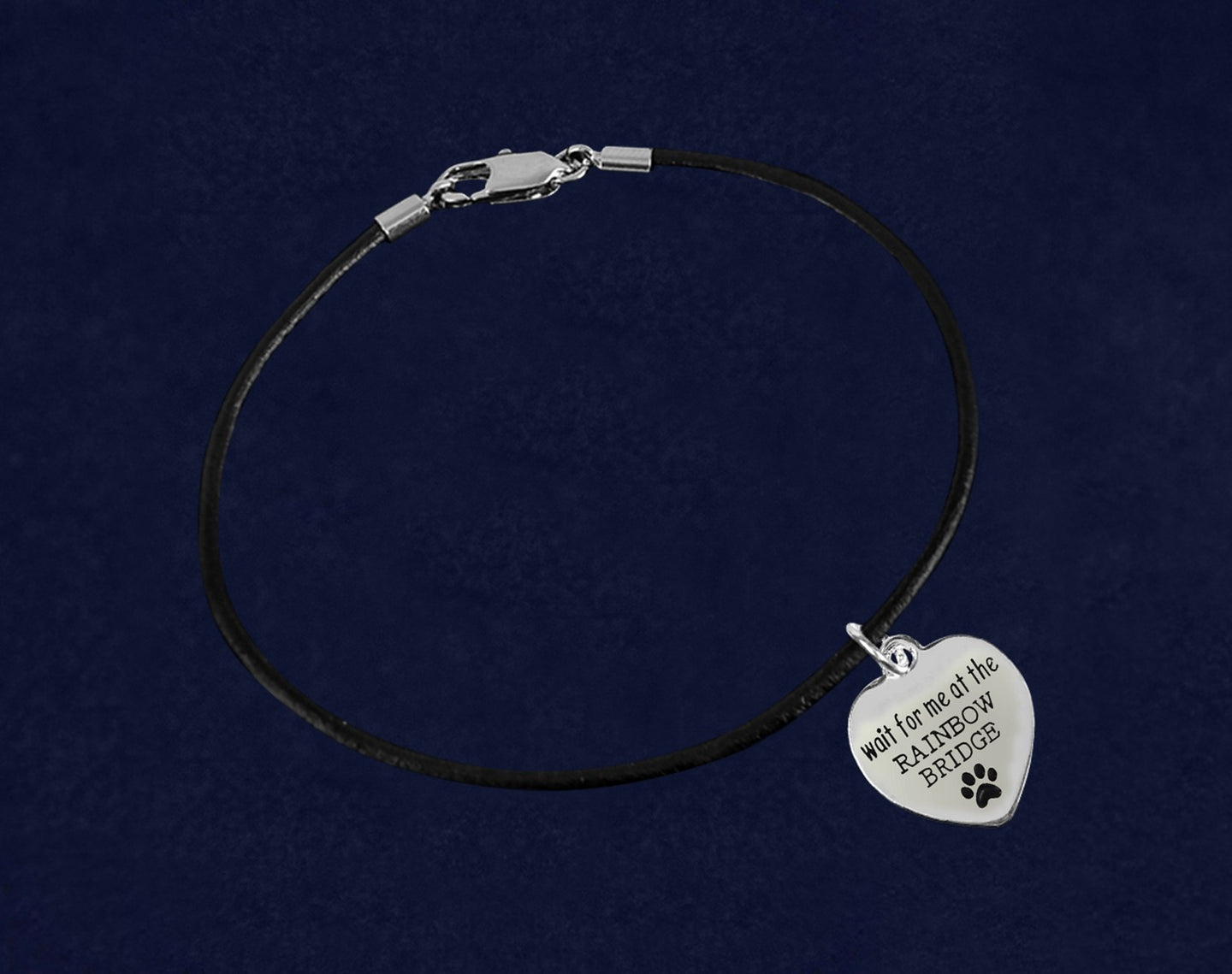 Wait For Me At The Rainbow Bridge Black Cord Bracelets - Fundraising For A Cause