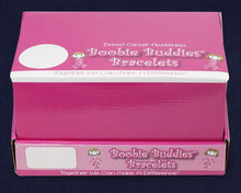 Load image into Gallery viewer, Boobie Buddies Breast Cancer Awareness Bracelet Counter Display (12 Cards) - Fundraising For A Cause