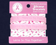 Load image into Gallery viewer, Breast Cancer Awareness Pink Ribbon Silicone Bracelet Counter Display (12 Cards) - Fundraising For A Cause