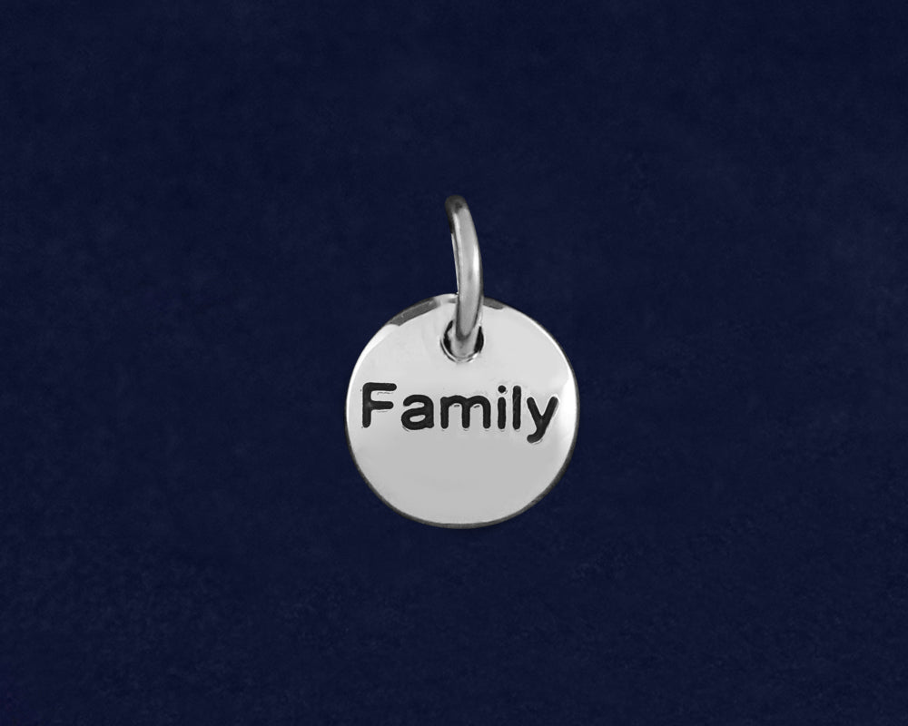 20 Silver Family Circle Charms (20 Charms)