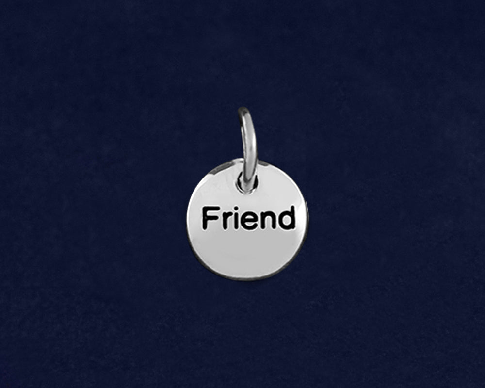 20 Silver Friend Circle Charms (20 Charms)